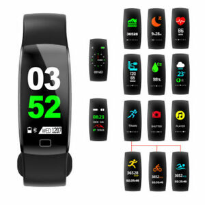 Black-Fitness-Wrist-Band-with-Heart-Rate-Monitor-Waterproof-IP68-Fitness-Tracker-Smartwatch