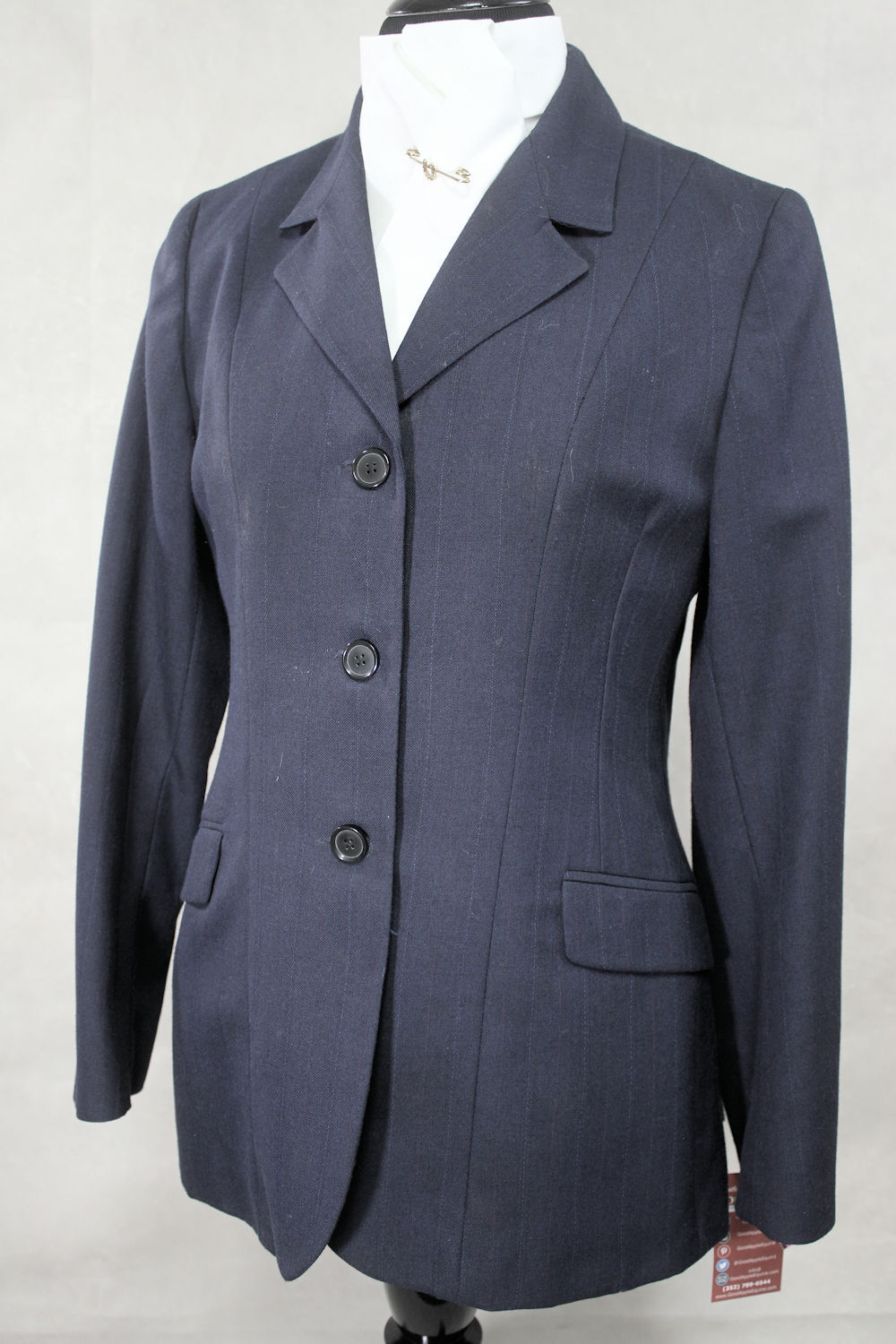 Beaufort Light Weight Show Coat, Navy, US Size 34ins Chest Ref  255-16