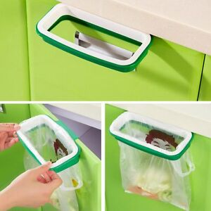 Image is loading OVER-DOOR-Carrier-bag-holder-Cupboard-door-bin- & OVER-DOOR Carrier bag holder.Cupboard door bin bag holder. Plastic ...