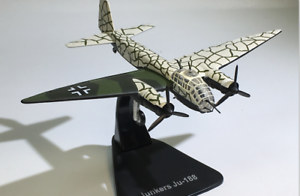 1-144-Scale-WWII-German-Junkers-Ju-188-Bomber-Aircraft-Die-Cast-3D-Alloy-Model