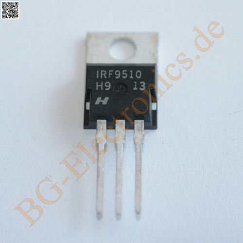 10 x IRF9510 P-Channel Power MOSFET 100V  Intersil TO-220 10pcs