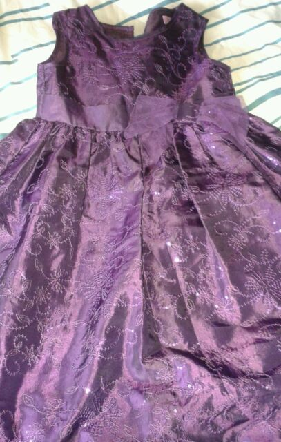 Girls purple sparkly party dress /Christmas dress 4-5 years