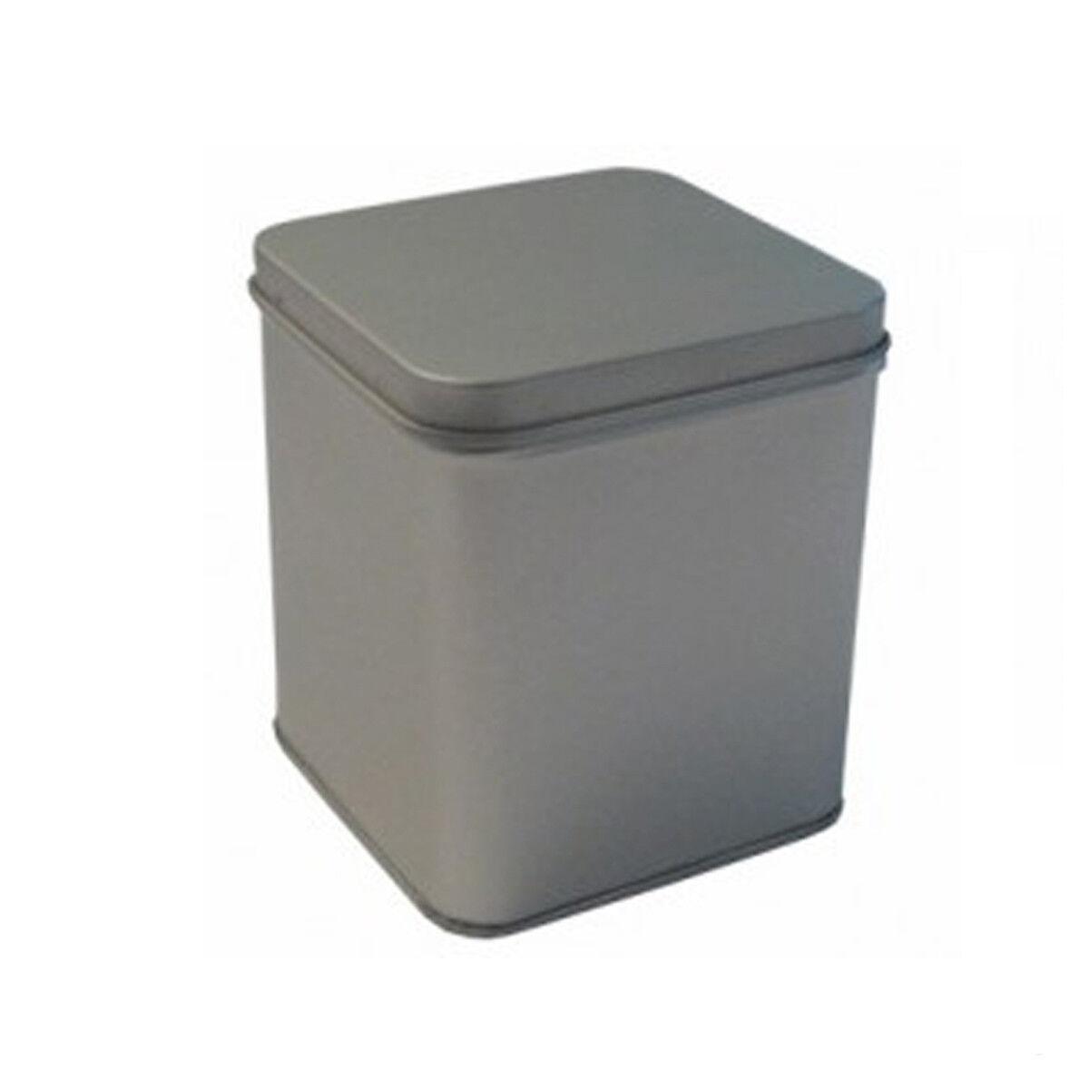12 X Tee Dose Dose Dose aus Metall- Teedose- Vorratsdose- Silber- für ca. 250 - 300 gr.Tee | Produktqualität  dff63e