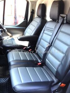 Van Seat Covers >> Details About Vw Transporter T5 Van Seat Covers Grey Quilted Pvc Leather 120gybk