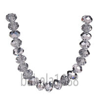 6mm Faceted Glass Crystal Jewelry Finding Diy Rondelle Loose Beads Free Shipping