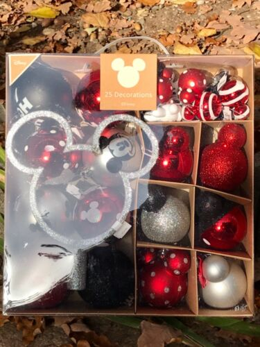 "Disney ""Minnie Mickey Mouse"" Rot Micky Weihnachten 24 Kugeln plus Mickey Spitze"