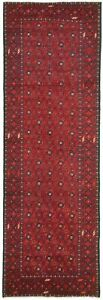 Hand-knotted-Carpet-2-039-11-034-x-9-039-5-034-Bordered-Geometric-Traditional-Tribal-Rug