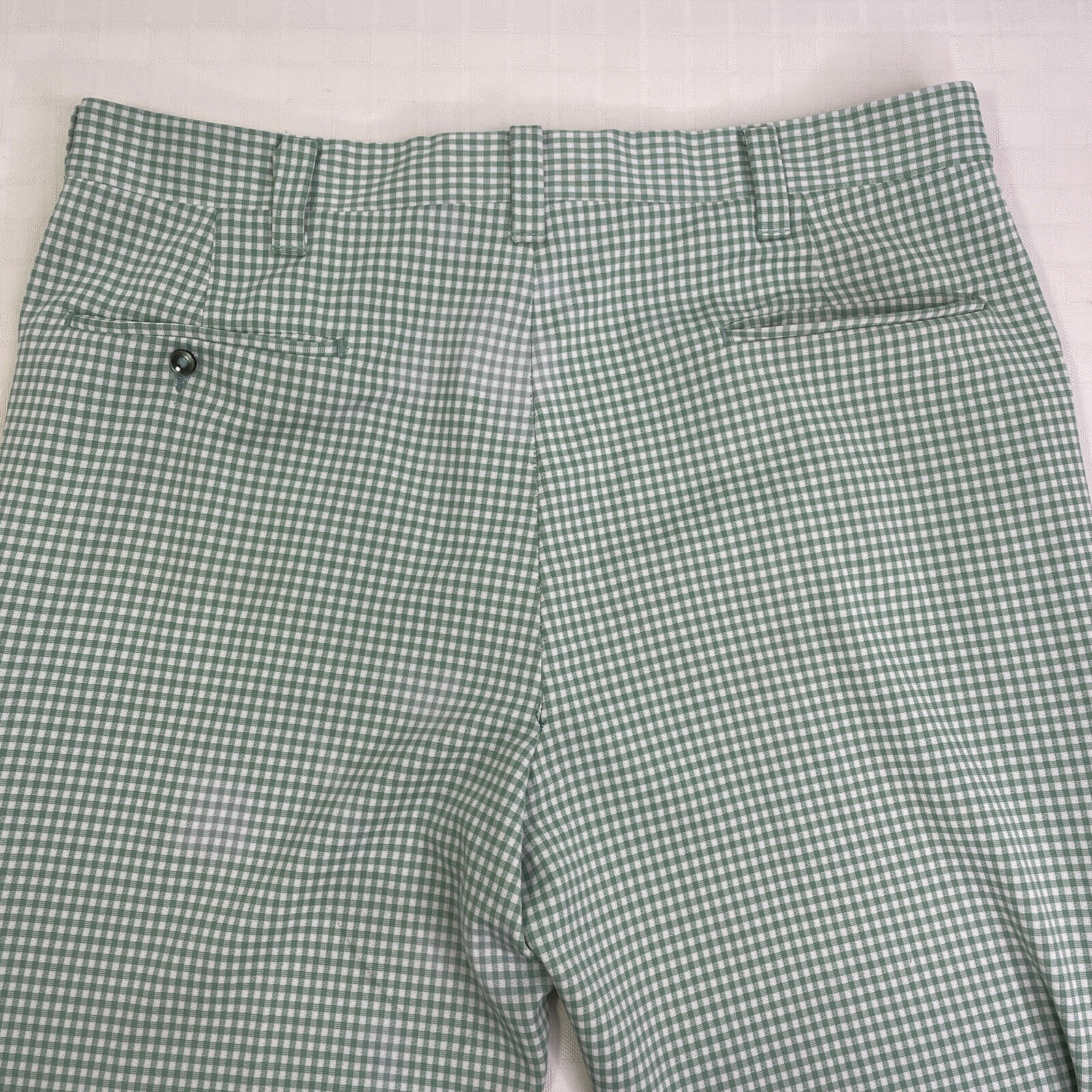 Haggar Green Plaid Check Leisure Golf Pants Vinta… - image 4