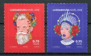 Luxembourg-2018-MNH-Christmas-Noel-2v-S-A-Set-Stamps