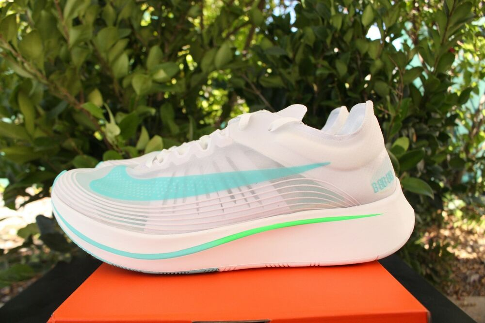 Nike Zoom Fly SP sz 8.5 Blanc Gamme Vert AJ9282 103-