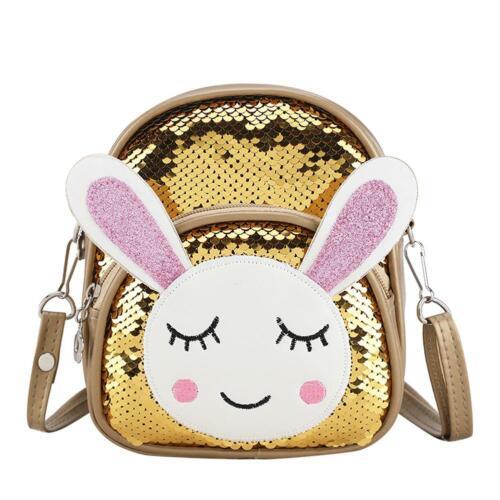 Kids Girls Sequins Bling Backpack Schoolbag Travel Rucksack Handbag Shoulder Bag