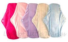 Reusable Washable Cloth Feminine Menstrual Sanitary Mama Pads Soft Minky Bamboo
