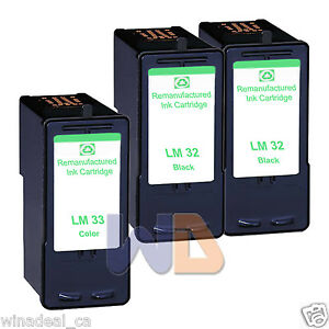 3-PK-Lexmark-32-33-Ink-Cartridge-For-X7170-X7350-X8350-P4330-P4350-P6210-Printer