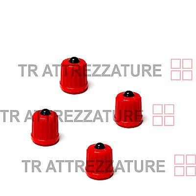 Cappuc Auto Caps Valvole Copertura stelo for polvere tappi for carrelli for carrelli auto for audi A1 A3 A4L A5 A6L Q1 Q2L Q3 Q8L Q8 Cappuppi di stelo della valvola for pneumatici in alluminio 4pcs