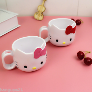 Image Is Loading Cute O Kitty Water Cup Porcelain Mug Kids