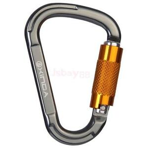 Clip Art Rock Climbing Clip 25kn carabiner d ring for rock climbing lock screwgate key chain image is loading lock