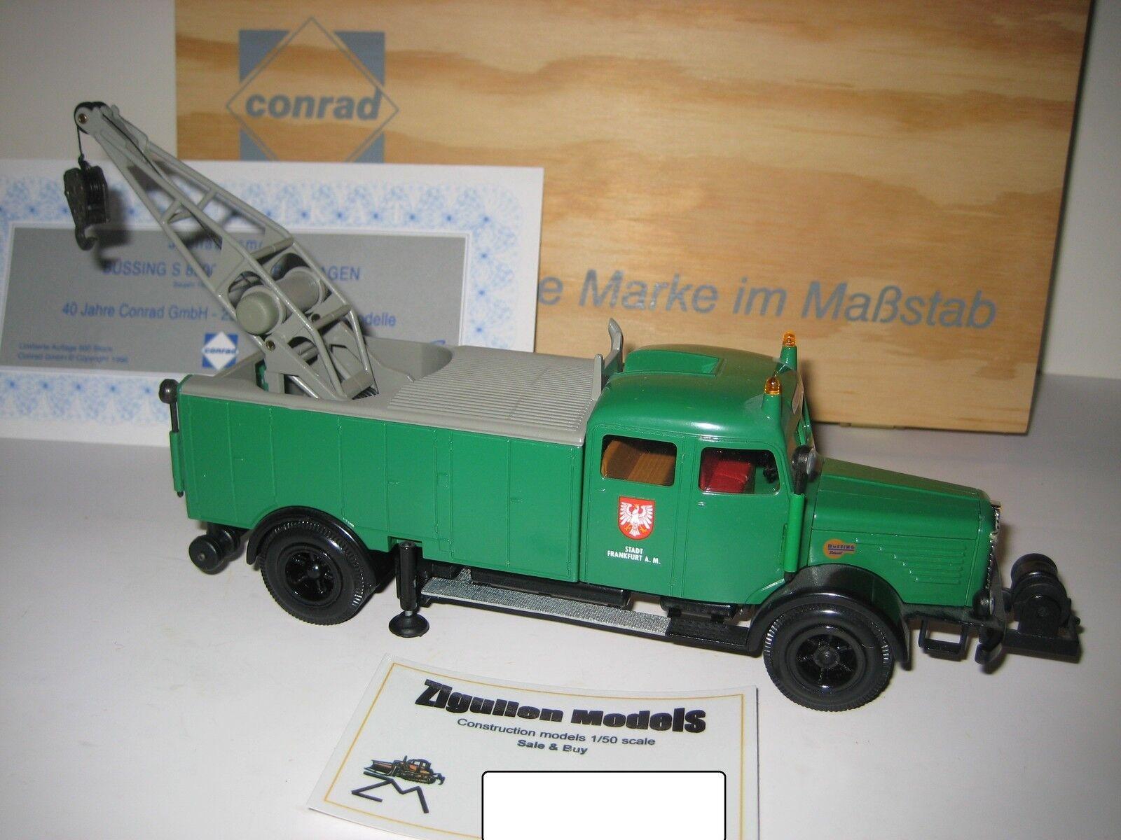 Büssing S 8000 rüstkranwagen  1040 CONRAD 1 43 Limited