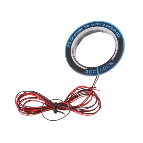 Aluminium Car Ignition Startup Switch Red LED Light Ring Cover for Ford