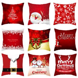 Details about Velvet Square Pillowcase Cushion Cover Throw Pillow Case  Merry Christmas Decor