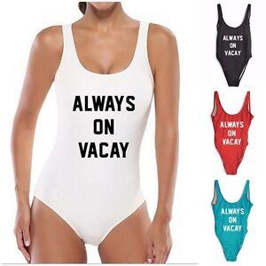 image is loading always on vacay vacation holiday halloween monokini swimsuit - Halloween Swimsuit