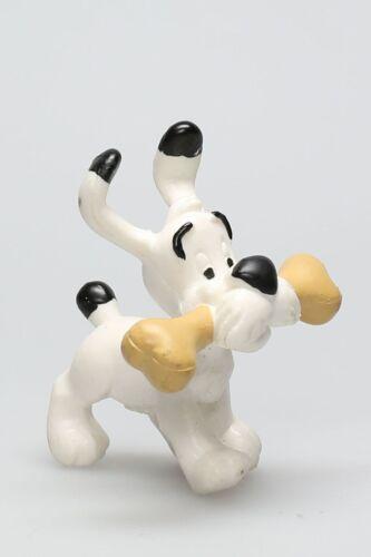 Figurine plastique Astérix Idéfix avec un os Plastoy