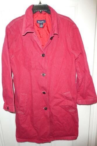Vintage Denim & Co Womens Coat Red Size 1X Plus De