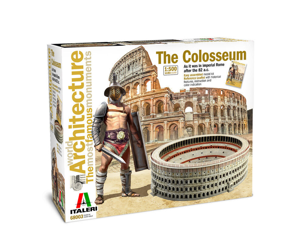 Italeri 68003 -  The Colosseum Kit 1 500 - IL COLOSSEO DI ROMA  EDITION LIMITED 3  excellent prix