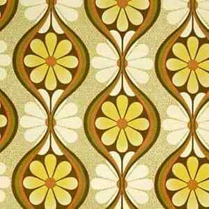 1970s Original Geometric Floral Timesake Vintage Wallpaper ...