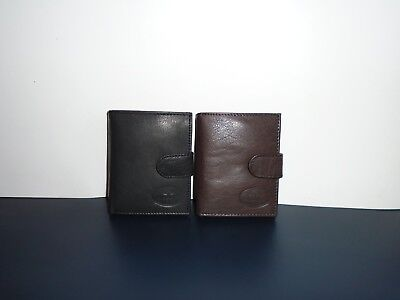 FACCHINO LEATHER BI FOLD WALLET WITH CARD NOTE AND COIN HOLDERS 10307