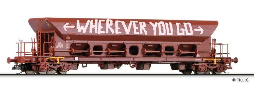 HS Tillig 15372 stesso carrello scarico FACS delle DB AG con graffiti