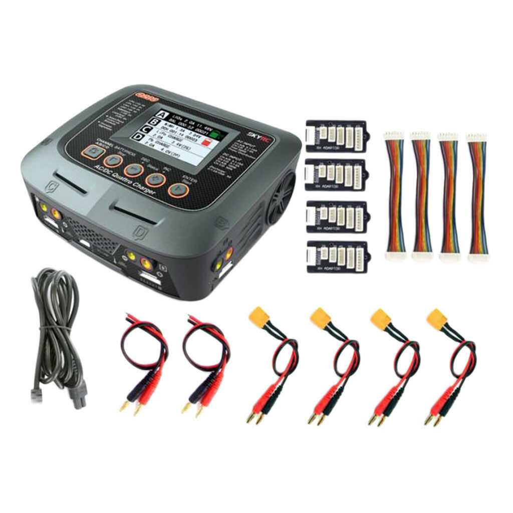 SKYRC Q200 AC DC 10A 4CH RC Car Airplane Battery Balance Charger Discharger