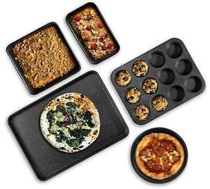 Granite-Stone-Bakeware-5-Piece-Nonstick-Complete-Nonstick-Baking-Set-BRAND-NEW