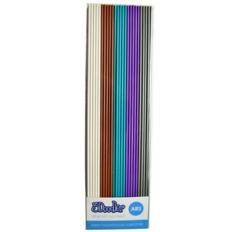 3Doodler Filament Create and Pro, ABS, 25 pcs, White Brown Blue Purple Silver