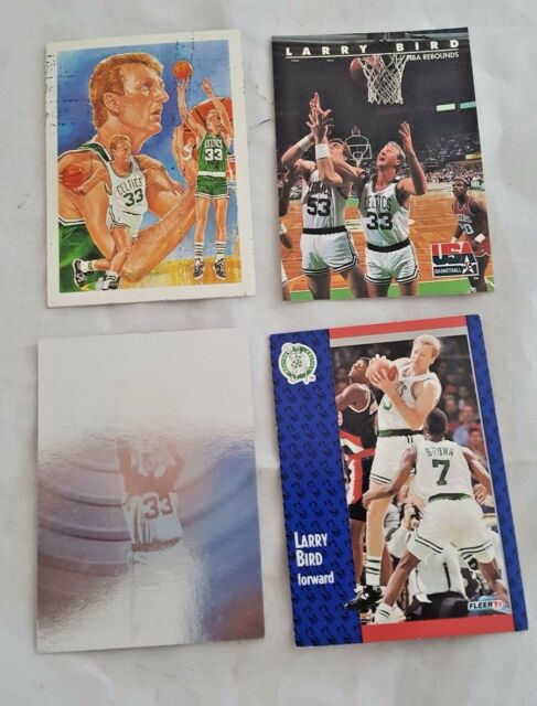 6d5e7c3ef53 LOT OF 4 - Larry Bird  25 Celtics Basketball Boston Celtics NBA NBA hoops  holo