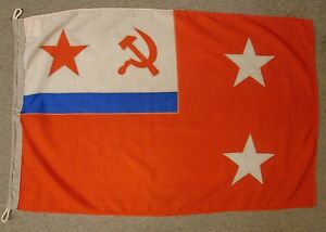 Image Is Loading Soviet Naval Flag 2 STAR ADMIRAL USSR NAVY