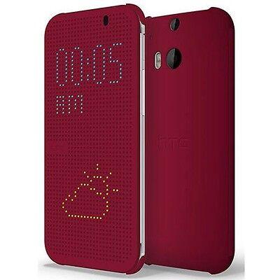 separation shoes d30db 44976 HTC HC M100 Dot View Flip Case for HTC One (M8) (Purple)   eBay