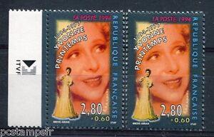 FRANCE  1994, VARIETE de couleur, timbre 2897, YVONNE PRINTEMPS, neufs**