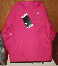 NWT DC SHOES KIDS SERVO INSULATED SNOW JACKET YOUTH LARGE CRAZY PINK