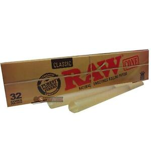 RAW Classic Cones Mega Pack 32 Cones - Pre Rolled Rolling Papers - Bulk Buy