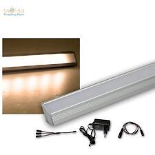 2er Set LED Alu-Eck-Lichtleiste warmweiß + Trafo Unterbauleuchte Küchenleuchte