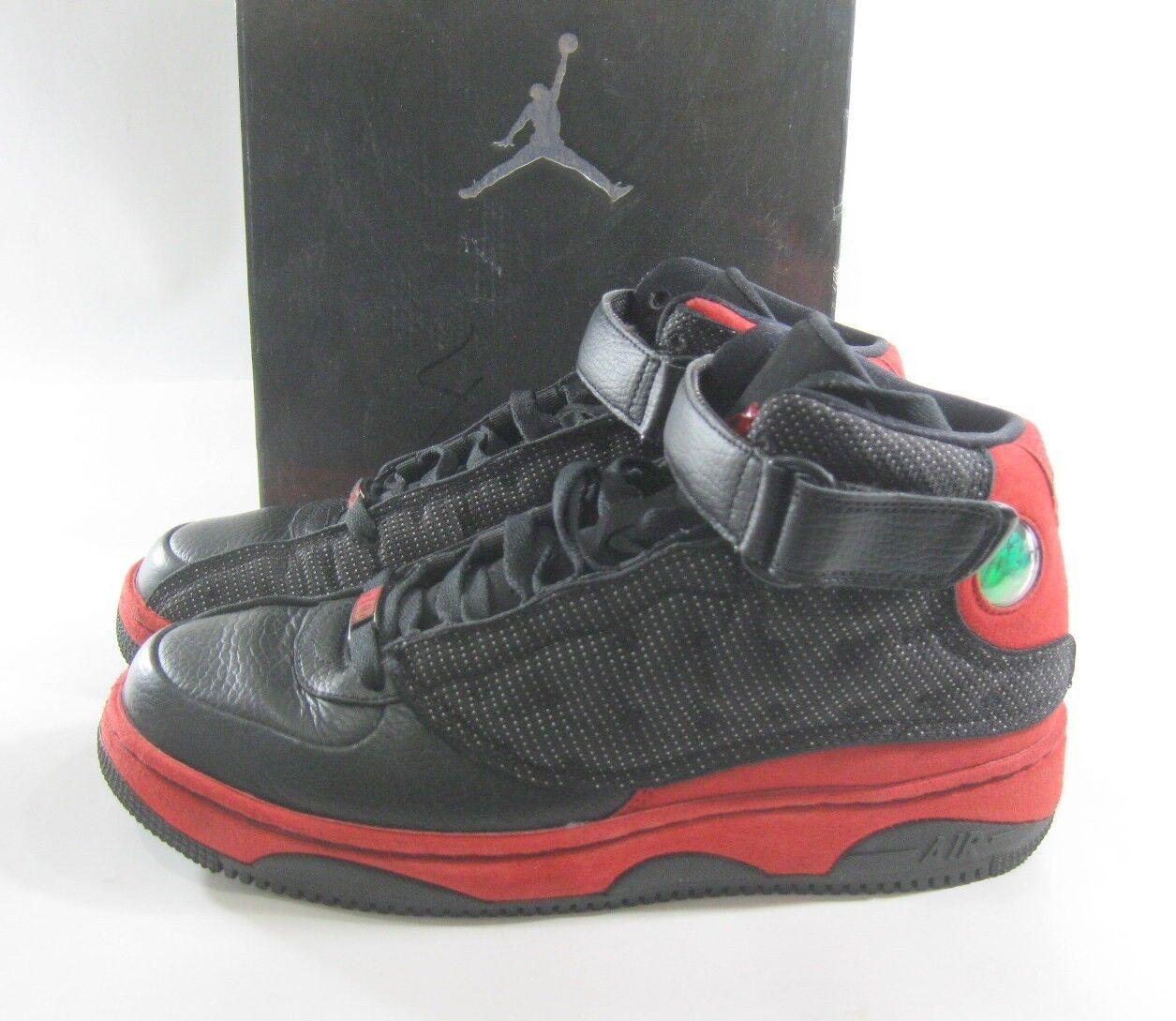 Nike air jordan ajf 13 nero della squadra rosso - bianco - 375453-061 numero 9