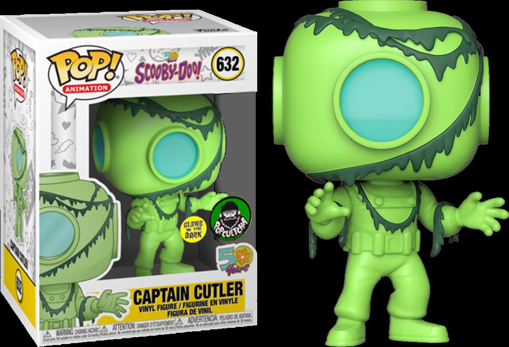 Captain Cutler Scooby Doo gniedrig GITD Funko Pop Vinyl New in Mint Box + Protector