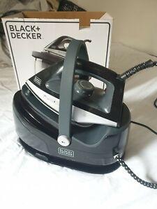 Black + Decker Fer à Repasser avec Centrale Vapeur Chargeur