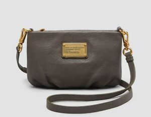 663340f07bdd New Marc by Marc Jacobs Classic Q Percy Leather Crossbody Bag GREY ...