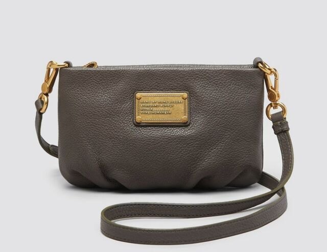 cd58e030c83d New Marc by Marc Jacobs Classic Q Percy Leather Crossbody Bag GREY  AUTHENTIC!