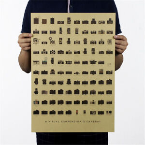 Camera-alt-Nostalgie-Wandsticker-Poster-dekorative-Malerei-51-5-x36cm-DD