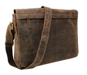 Leder-Umhaengetasche-Schultertasche-Notebook-Laptop-Tasche-Arbeitstasche-Vintage