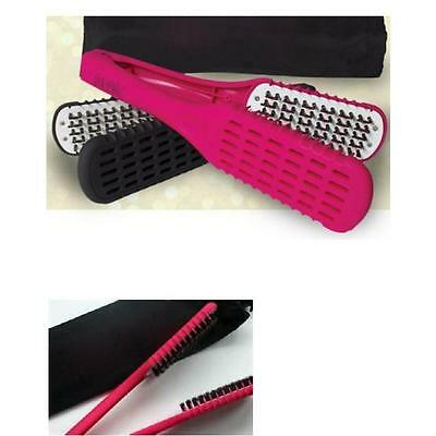 Straight N Go Brush Hair Makeup Straightener Without Electricity with travel bag