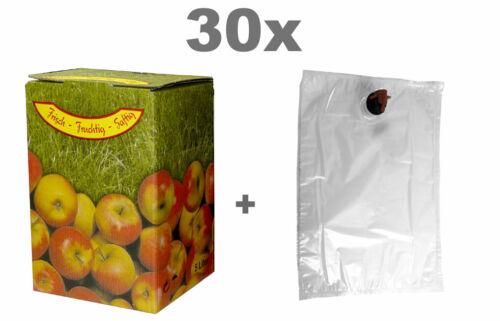 Bag in Box Set 3L 30x Beutel und 30x Karton