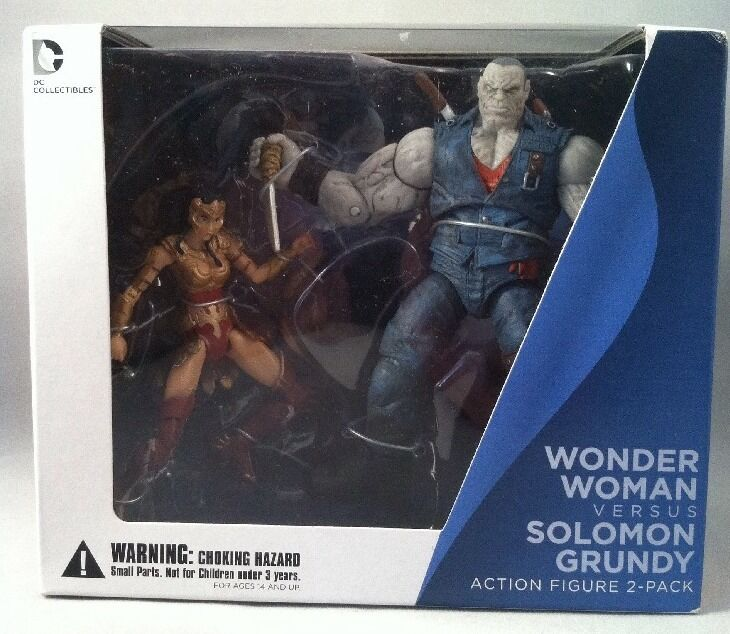 Injustice: Gods Among Us. Wonder Woman Versus Solomon Grundy, Figura De Acción 2 Pk
